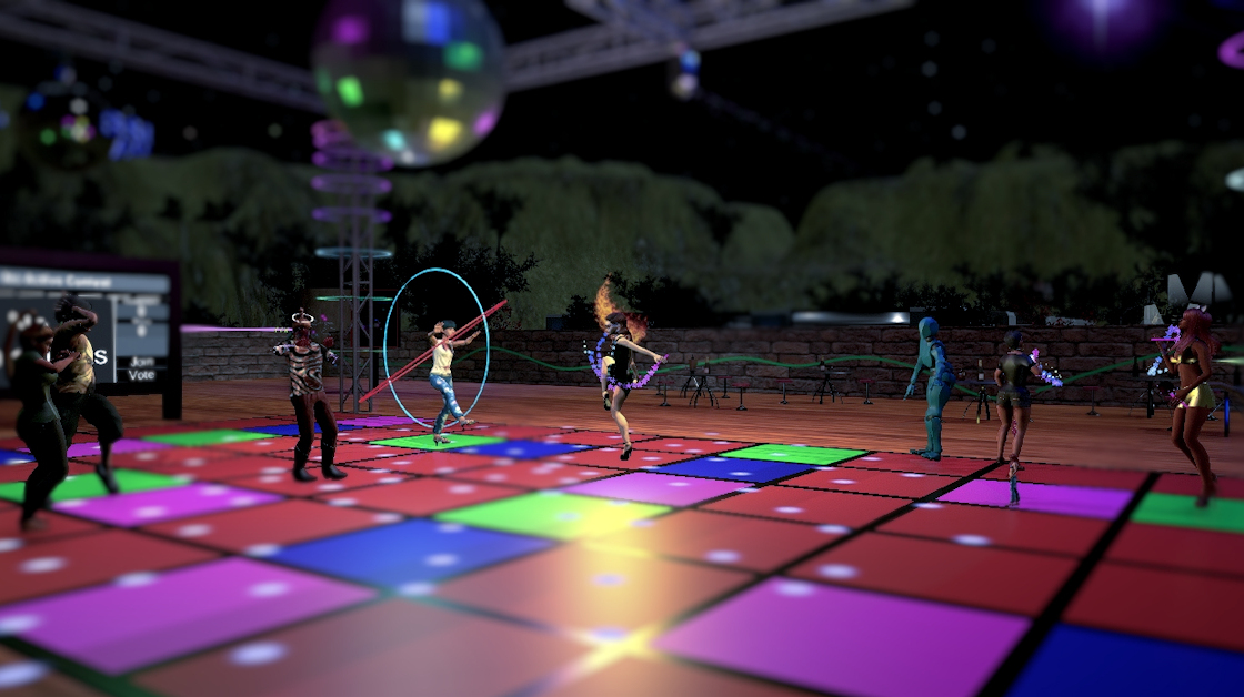 381 Club is a popular dance venue in Sinespace.  Live music and performances happen three times every week!