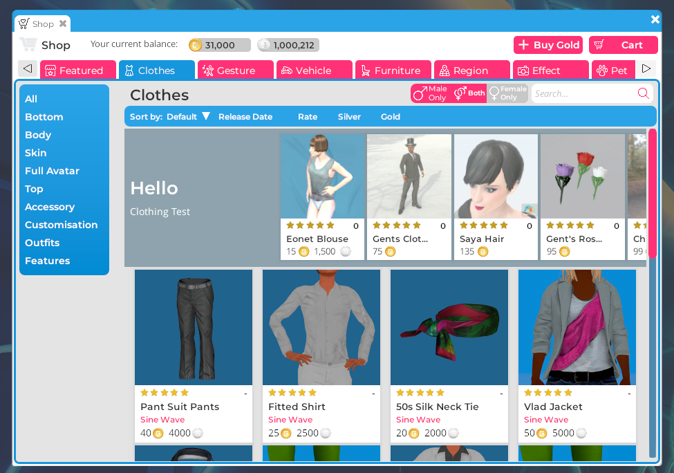 New shop featured section